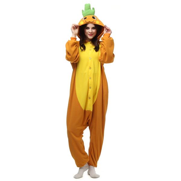 Carrot Adult's Cartoon Cosplay Kigurumi Polar Fleece Costume for Halloween Carnival New Year Party welcome Drop Shipping