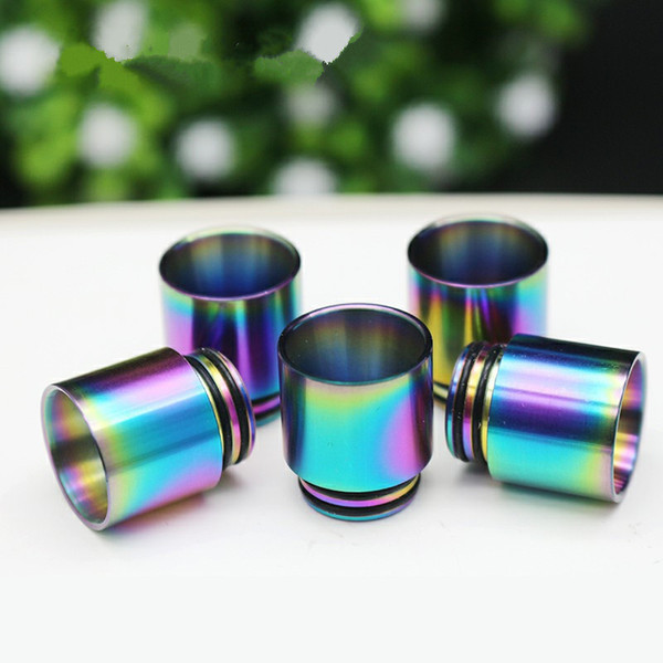 Embout buccal large 810 et 510 Rainbow Metal Drip Tip Ces embouts pour TFV12 TFV12 Prince Baby TFV8 X BIG BABY