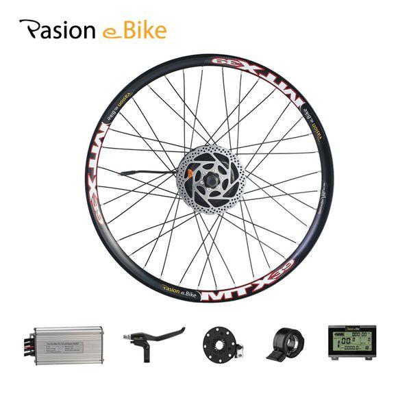 "wholesale Conversion Kits 36V 48V 500W Motor For Electrical Bike Conversion Kit 20"" 24"" 26"" 700C 27.5 28 29"" Rear Wheel"