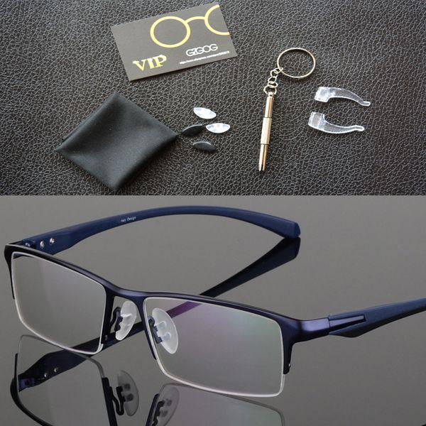2018 Fashion Titanium rimless eyeglasses frame  designer Men Glasses suit reading glasses optical prescpriton lenses