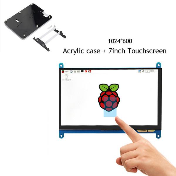 HDMI 7 pouces écran tactile pour Raspberry Pi 3 capacitif 7 '' moniteur LCD pour écran tactile USB banane Pi avec boîtier en acrylique
