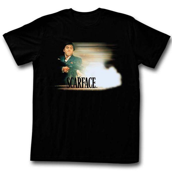 SCARFACE Camiseta de manga corta para hombre BLACK GLOWY DUDE Cool casual pride camiseta hombre Unisex Moda camiseta