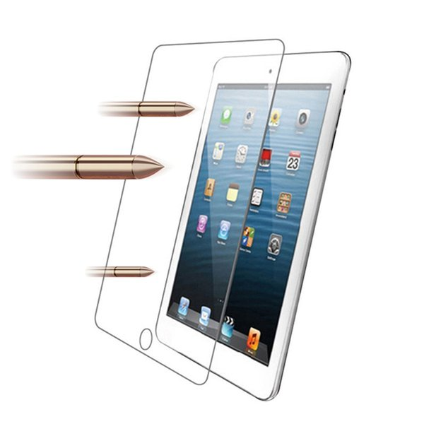 10pcs/lot Transparent Real Tempered Glass 0.3mm For iPad 2 3 4 Ultra Clear Tablet Screen Protector Film