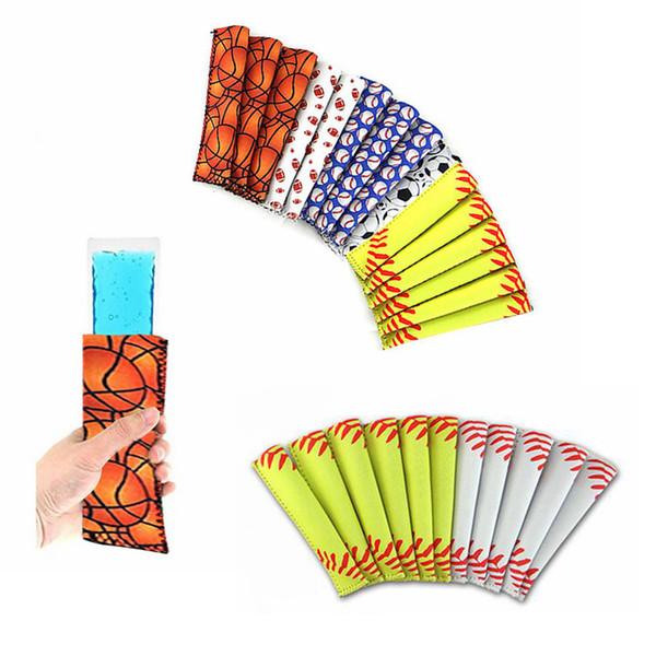 best selling Baseball Popsicle Holder Pop Sleeves Ice Lolly Bag Summer Kids Ice Sleeves Freezers Popsicle Holders Summer AAA654