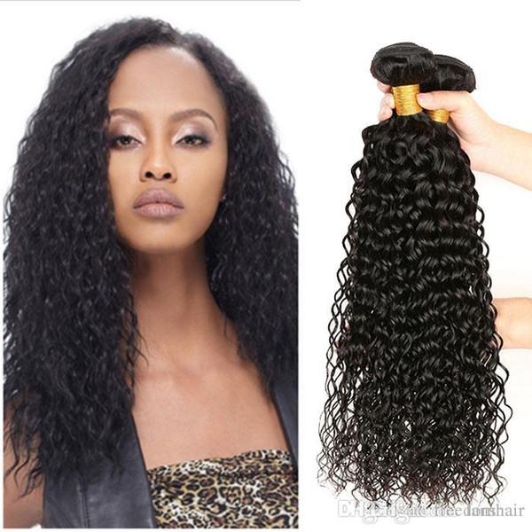 8A бразильская волна воды человека девственные волосы плетет натуральный черный двойной утки 10-20 дюймов 3 шт./лот влажные и волнистые необработанные наращивание волос