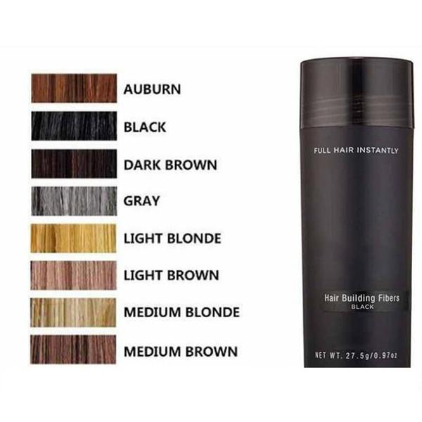 top popular Top pppk Hair Fiber Keratin Powder Spray Thinning Hair Concealer 10 colors Hot Items DHL Free Shipping 2021