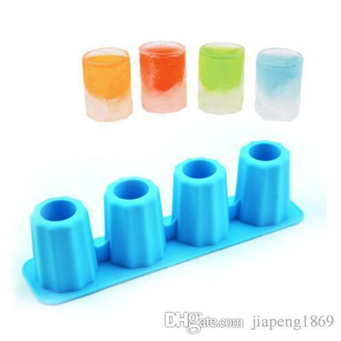 DIY Ice Cream Tubs Corlorful Popsicle Mold Wine Glass Baking Tools Tray Cup Silicone Cube