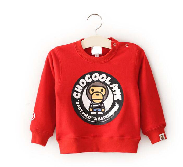 children_place / 2018 Brand New Children Clothing Toddler Graphics Sweatshirt Baby Boy Spring Autumn Girls Casual Round Neck Monkey Casual Top Free Shipping