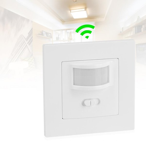 Infrared PIR Motion Sensor Switch PVC Recessed Wall Lamp Bulb Switch on/Off and PIR Switch Light Assortment
