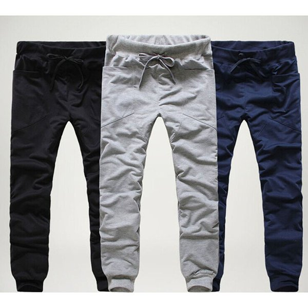 2017 Mens Joggers Cargo Unique Pocket Men Pants Black lace-up Sweatpants Harem Pants Men Jogging Sport Pants Men Pantalones Hombre M-2XL