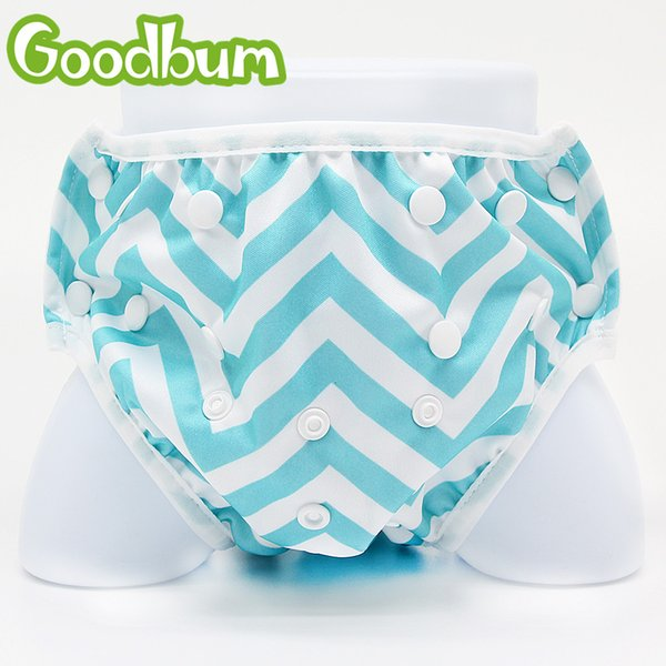 Goodbum Swimming Diapers Washable Infants Nappies Cover Adjustable Swim Diaper Cover Pants Reusable Baby Swimwear