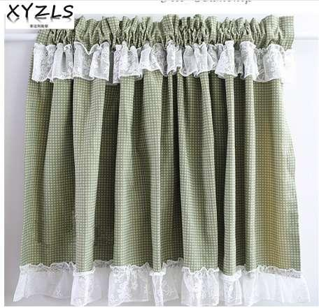 2019 XYZLS New Green Plaid And Lace Cupboard Screen Kitchen Curtains Cafe  Curtain Short Panel Door Curtain Window Treatment From Gravityhome, $31.05  | ...