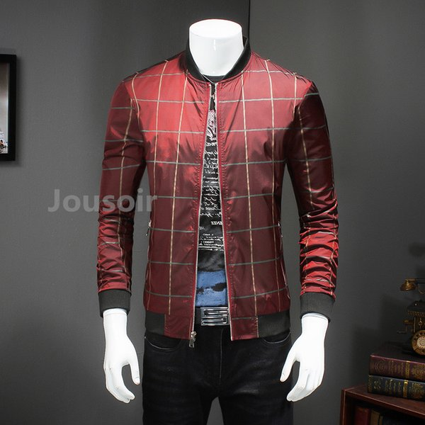 Ruin clothes British style plaid jacket men's 2018 autumn luxurious materials CD5
