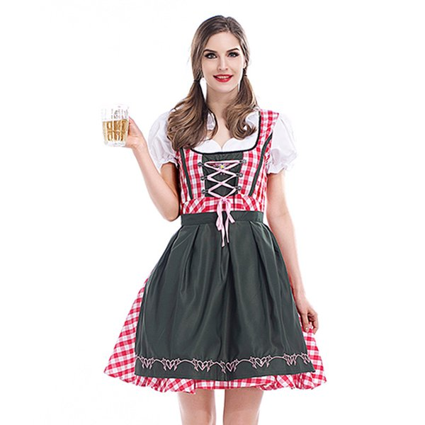 Halloween Carnival Women Fancy Dress Oktoberfest Beer Cosplay Clothes Traditional Bavaria Beer Festival Costume Sexy Dresses