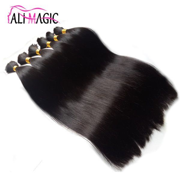 Bulk Human Hair For Braiding,Bulk Hair Bundles 1 Bundle Free Shipping 12 to 26 Inch Natural Color Hair Extensions 16 Colors Optional