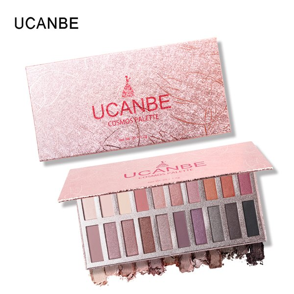 UCANBE Brand 20 Color Shimmer Mae Eye Shadow Makeup Palee Smokey Warm Pigmented Eyeshadow Powder Long Lasting Cosmetics Set