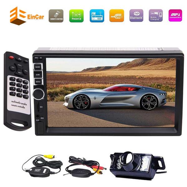 Eincar Univresal 2din Car Stereo System 7'' HD Multi-Touchscreen Autoradio Bluetooth Headunit Front USB/TF FM Aux Input Car Radio Receiver
