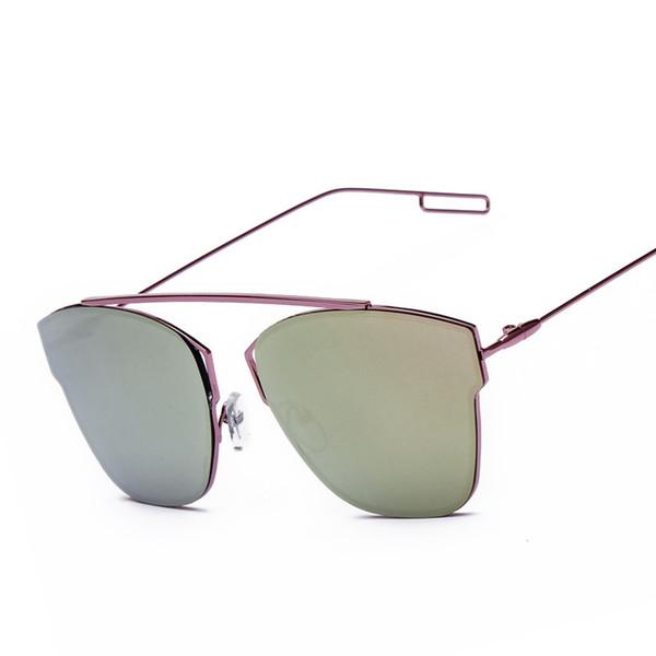 Korean Plane Reflect Light Ma'am Sunglasses Block Color Film Fashion Sunglasses Male Boundless Exceed Light Glasses Wholesale 2220