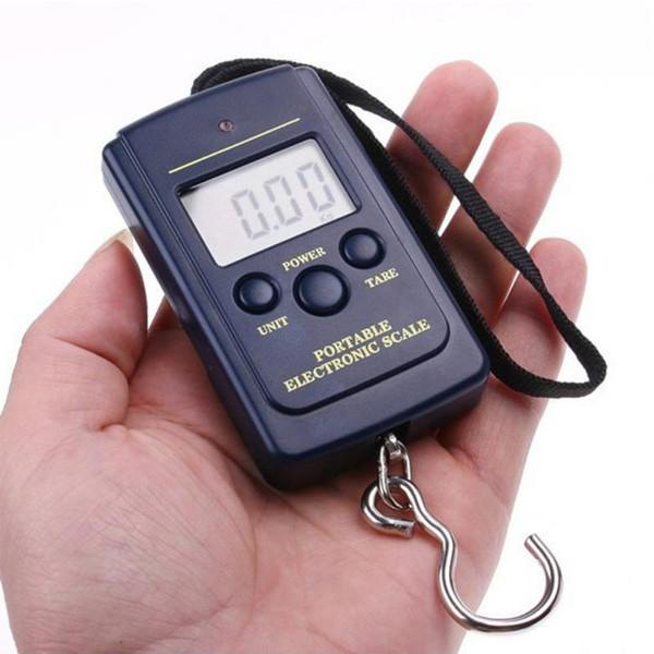 Accessorio da cucina bilancia elettronica digitale con scatola al minuto 0.001kg - 40kg Bagagli da appendere Bilanciamento del peso LCD Mini multi colori