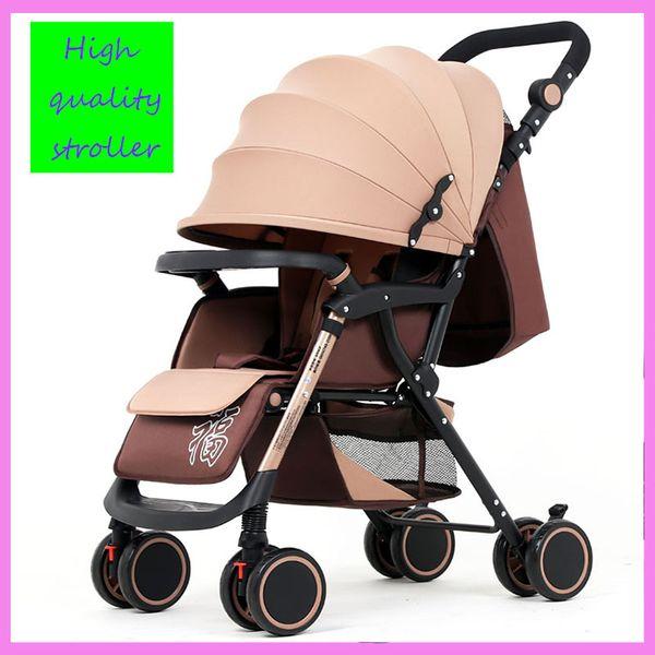 Leve Dobrável Carrinho De Bebê Pode Sentar-se Deite Quatro Rodas Anti-balanço Carrinho De Bebê Infantil Guarda-sol Carrinho De Bebê Carrinho De Bebê Cesta Inferior