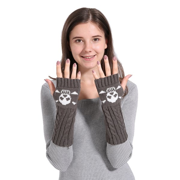 Mittens Womens Free Knitting Woman Winter Warm Knitted Long Twist Plus Thick Half Finger Gloves Mittens 30SP3