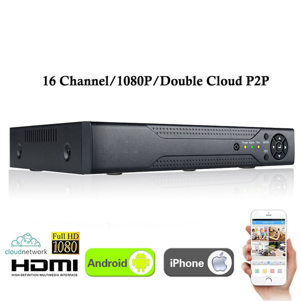 Nuovo videoregistratore CCTV 16Channel XVR Tutto HD 1080P 5-in-1 Videoregistratore 16 canali Super DVR Supporto AHD / Analog / Onvif IP / TVI / CVI Camera