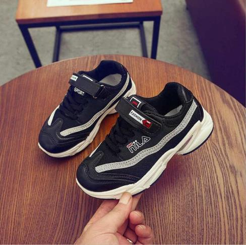 Baby Shoes Kids Shoes Girls and Boys Little Sports shoes student sports shoe Spring Autumn boys net shoe Size 26-37 Best Selling 301-2