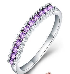 Белое золото Фиолетовый кристалл