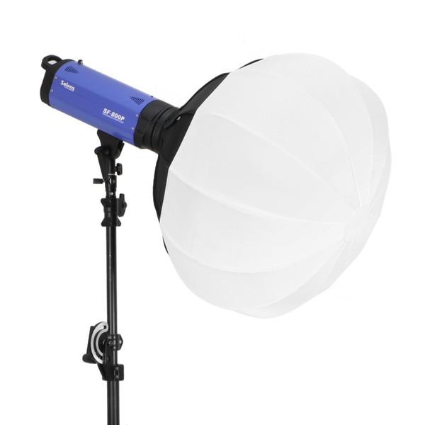 vente en gros 50/65/80 cm pliable sphère softbox papier lanterne boule forme diffuseur w / bowens montent pour stroboscope flash studio