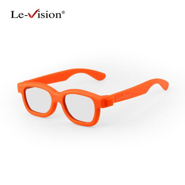 Le-Vision Çocuklar 3D Gözlük Yeni RealD Dairesel Polarize 3D Gözlük Pasif Gözlük LG Sinema DLP Pojector Ev Sineması
