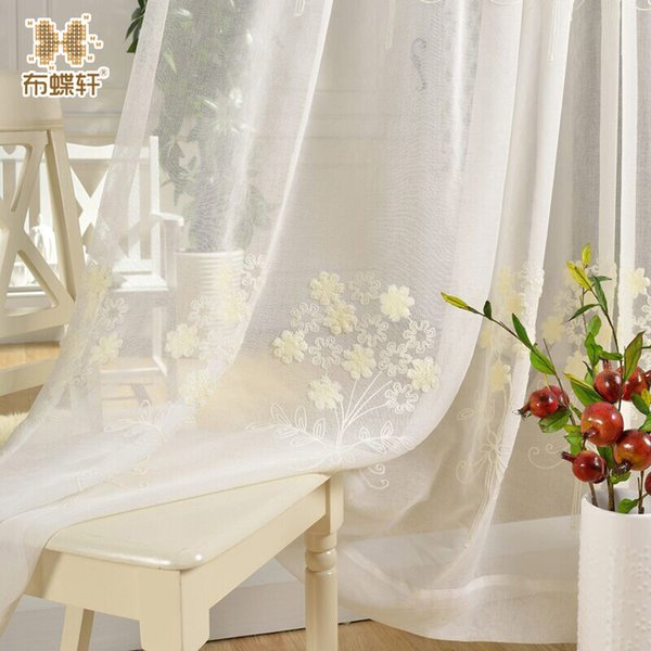 2019 Simple White Embroidered Gauze Cloth Linen Voile Curtains Bedroom  Study Drape Beautifully Linen Luxury Tulle From Isaaco, $34.48 | DHgate.Com