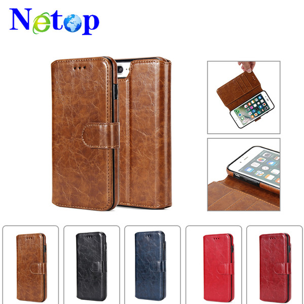 Netop Wallet type Petroleum grain mobile phone shell For Iphone X case caso del iphone luxury phone case
