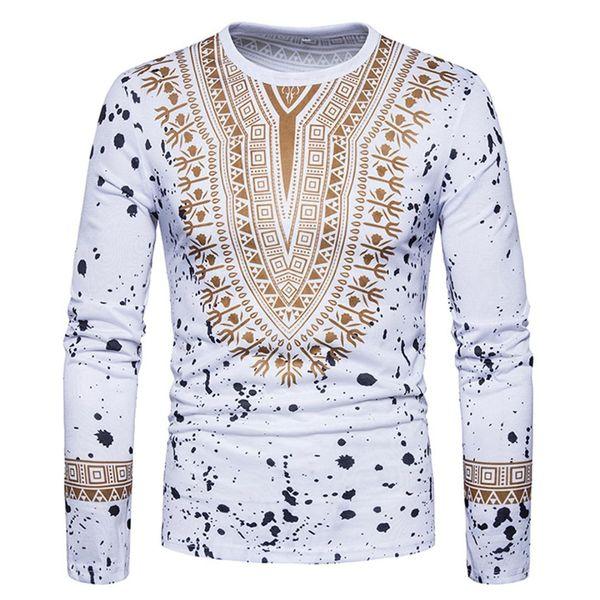 2018 sumer outono New Hot sale moda masculina criativa étnica flor floral impressão 3D T-shirt