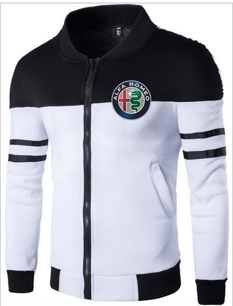 alfa romeo stampa moda uomo giacca cucitura design maschio nuovo baseball giacche cappotto uomo felpe tuta sportiva primavera autunno