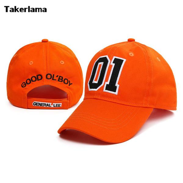 Takerlama Yeni Genel Lee 01 Işlemeli Pamuk Dimi Cap Şapka Hazzard Iyi Ol Boy Unisex Yetişkin Aplike Beyzbol Şapka Dukes