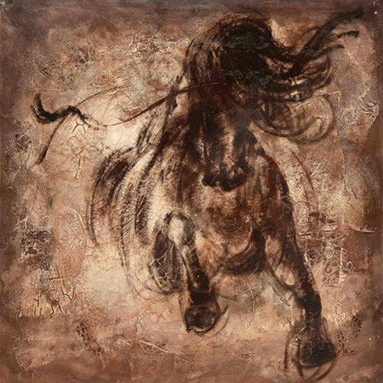 Contemporary Giclee Print Art Wall Animal Horse Abstract oil painting Modern Canvas picture for Living Room Home Bedroom Decor gift JW566