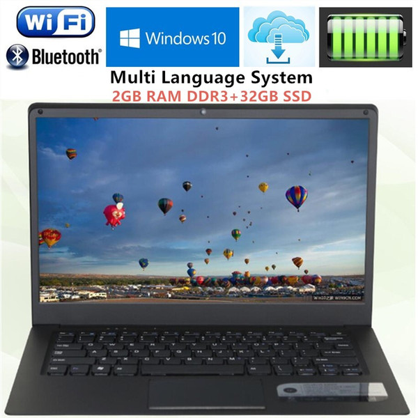 2GB RAM+32GB SSD 14.1 inch 1366x768P Ultrabook Computer Intel Atom X5-Z8350 Windows10 Ultra slim Laptop with WIFI HDMI Notebook