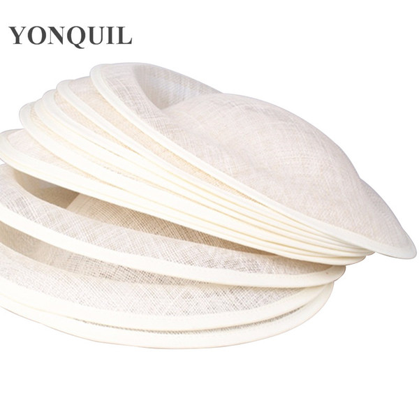 Free shipping 30CM ivory sinamay fascinator base big size sinamay hats DIY fascinator hair accessories cocktail hats 6pieces/lot OF1531