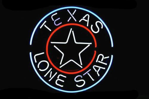 Neon SIGN REAL GLASS Glass tube Christmas GIFT FAST BLUE for TEXAS LONE real glass tube light handmade bar beer club PUB in the wall room