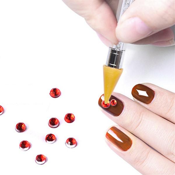 2018 Nail Art Jewelry Punta a doppia punta Punto strass pastello strumenti di perforazione Punta del trapano