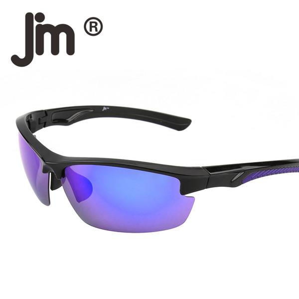 JM Outdoor Sports Wrap Polarized Sunglasses Men Women Semi Rimless Running Fishing Hiking Biking Cycling Riding Racing Goggles Oculos Gafas