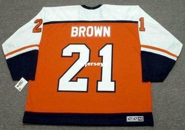 custom Mens DAVE BROWN Philadelphia Flyers 1987 CCM Away Cheap Retro Hockey  Jersey 2e2e5e03a