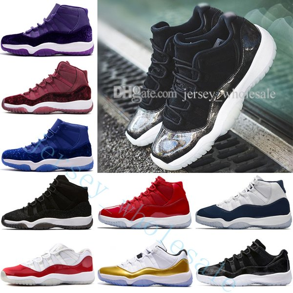 2018 11 midnight navy win like 82 96 men basketball shoes gym red space jam 45 72-10 low barons bred concord varsity red 11s sport sneakers