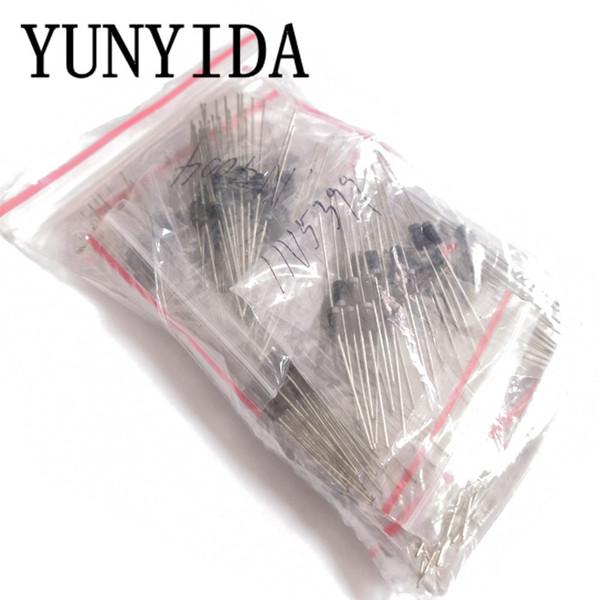255pcs Fast Switching Rectifier Schottky Diode Assorted Kit 1N4001 1N4004 1N4007 1N5408 UF4007 FR307 1N5819 1N5822 6A10 10A10