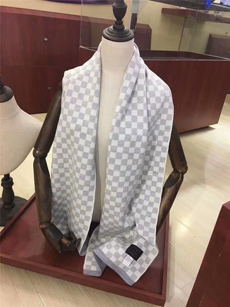 Designer De Moda Xadrez Cachecóis De Inverno Unissex Lenços De Luxo Senhores Xales Senhoras De Inverno Manter Quente Cachecol