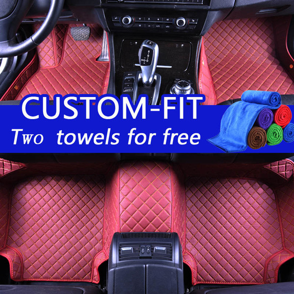 Wholesale Custom Car Floor Mats for lincoln navigator 3D Luxury Carpets Alfombra Coche Tapete Carro