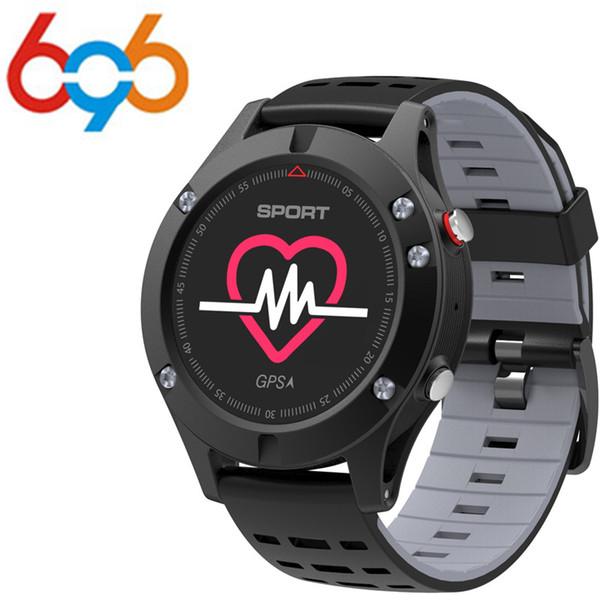 696 100% Original No.1 F5 GPS relógio Inteligente Altímetro Barômetro Termômetro 4.2 Smartwatch dispositivos Wearable para iOS Andr