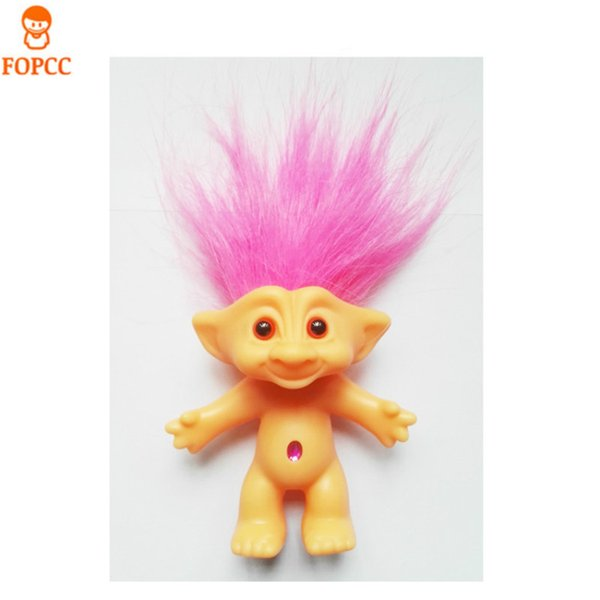Wholesale- Send Their Children Christmas Gifts Toys Vinyl Ugly Doll Troll Doll 80 Nostalgic Doll 10cm High Elf Magic Hair