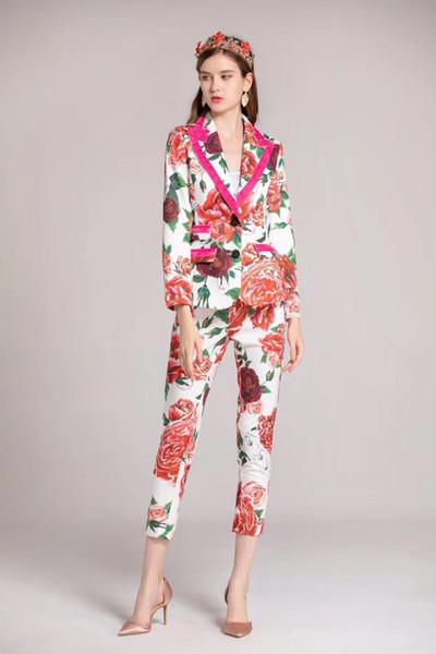 2018 yeni Yüksek Kalite moda kadın Setleri Pist Yaz Bayan Marka Lüks kadın Giyim W0849