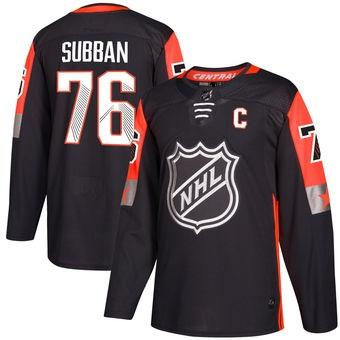 pretty nice 67465 8dcba 2019 2018 Nhl Hockey Jerseys Cheap Custom Men'S Nashville Predators PK  Subban Black NHL All Star Game Central Division Authentic Player Jersey AD  From ...